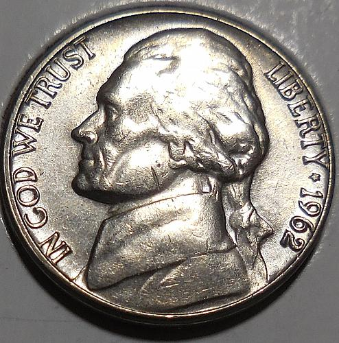 1962-D Jefferson Nickel
