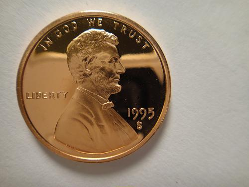1995-S Lincoln Cent Proof-66 (GEM+) RED