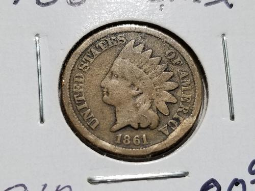 1861 P Indian Head Cent Small Cents (VG)