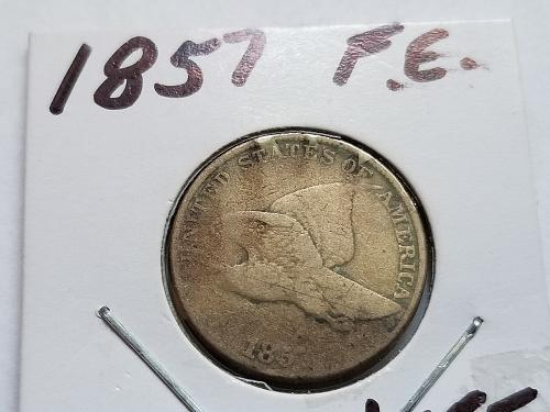 1857 P Flying Eagle Cent Small Cents (G)