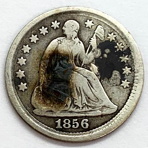 1856 Seated Liberty Half Dime