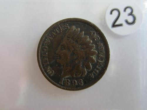 Great 1893  Indian Head  Cent Coin
