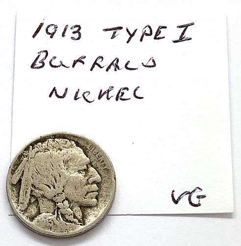 1913 Buffalo Nickel - Type 1