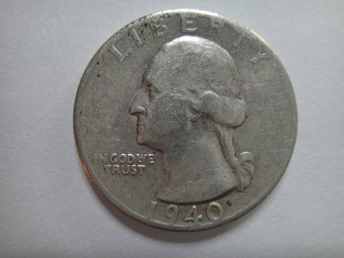 1940-S Washington Quarter Very Fine-25 Nice Mid-Circ Coin!