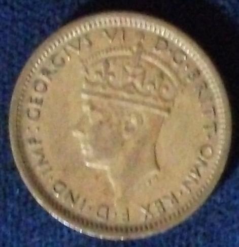 1943 British West Africa 6 Pence AU