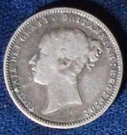 1871 Great Britain Sixpence Fine