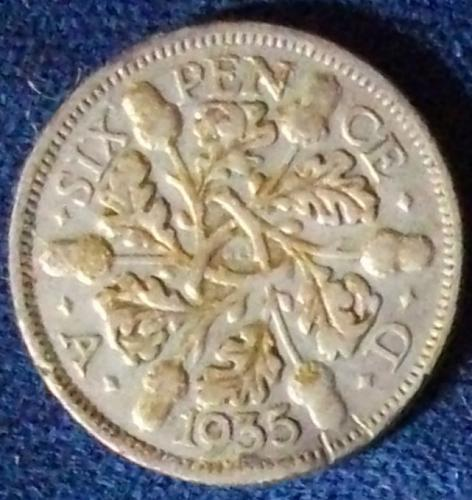 1935 Great Britain Sixpence Fine