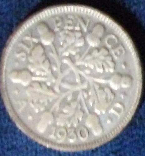 1930 Great Britain Sixpence Fine