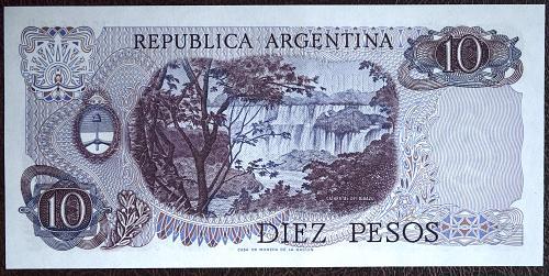 ARGENTINA 10 PESO P#75 UNC