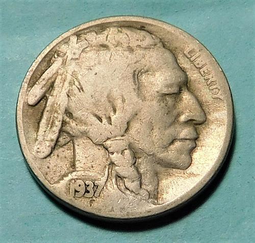 1937 S Buffalo/Indian Head Nickel