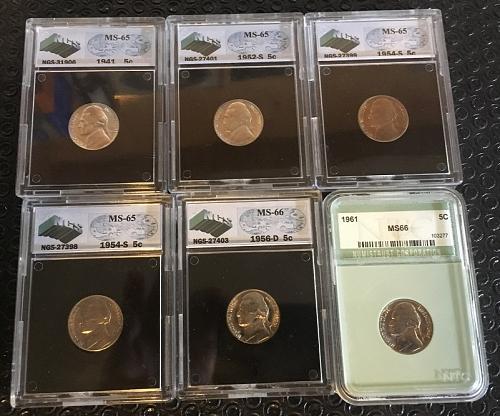 Dealers Lot Gem MS lot a total of  6 Coins  PKL Estate