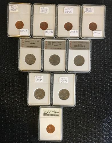Dealers Lot Gem MS & PR lot a total of  10 Coins  PKL Estate