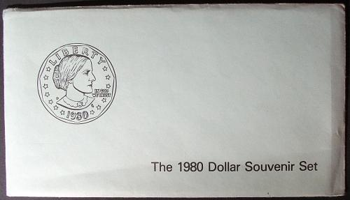 1979 and 1980 Souvenir Susan B. Anthony Coin Sets