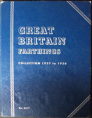 1937-1956 Great Britain Farthings Complete in Whitman Folder