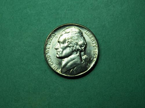 1952 D Jefferson Nickel Brilliant Uncirculated Coin   u96