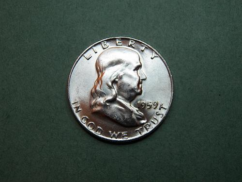 1959 P Franklin Half Dollar Gem BU Coin   v40