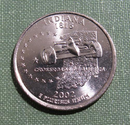 2002D Indiana state quarter