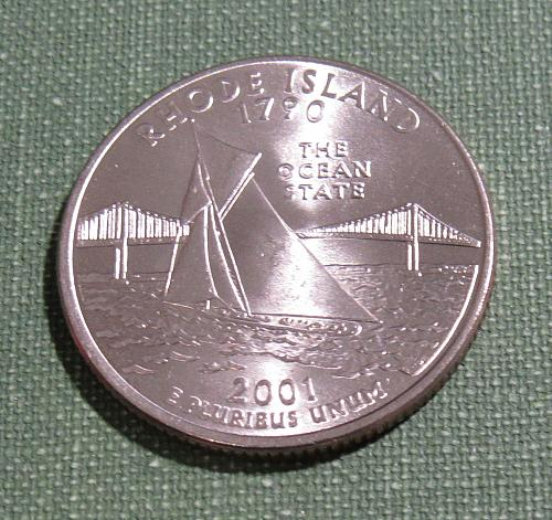 2001D Rhode Island state quarter