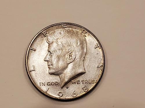 Kennedy Half Dollar 1968 D