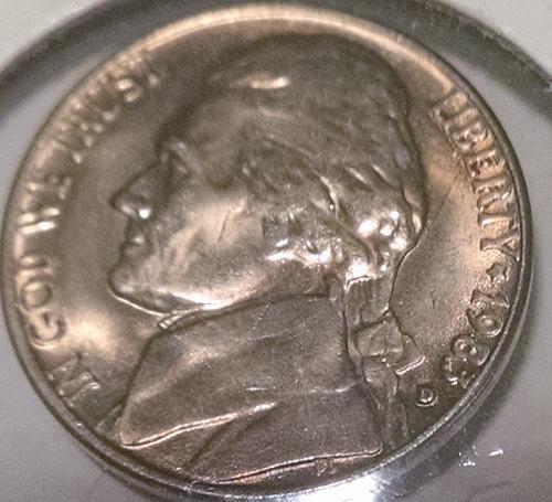 1983 D Jefferson Nickels