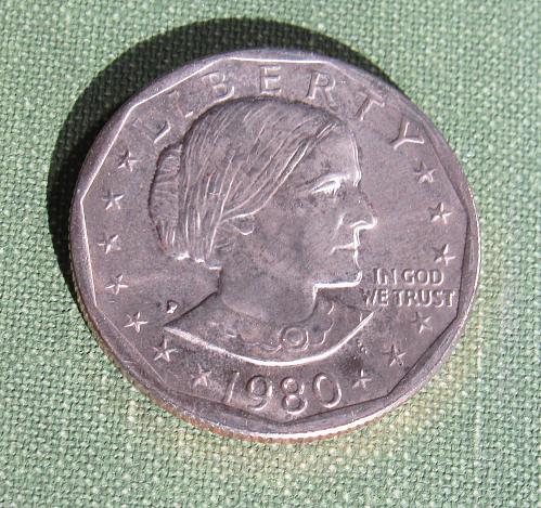 1980P Susan B. Anthony dollar