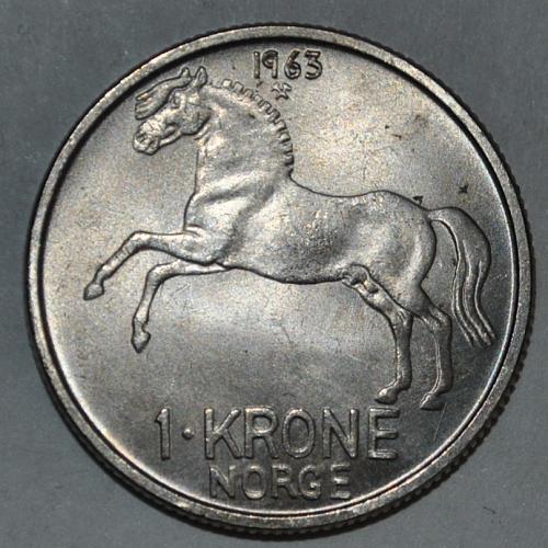 Norway 1 Krone 1963