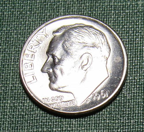 1961 Roosevelt Silver Dime