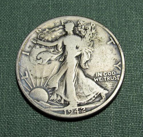 1942D Walking Liberty Silver Half Dollar
