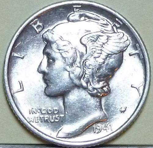 1941-P AU  Mercury Dime About Uncirculated ( 903 )