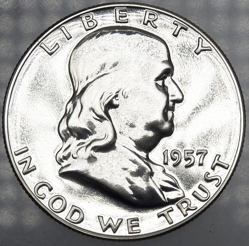1957 P Franklin Half Dollar#11 PROOF