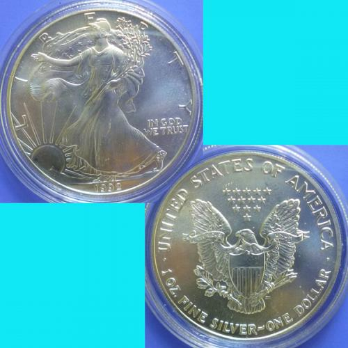 USA United States of America Silver Eagle Dollar 1992 km 273 99.9 Silver 1 oz