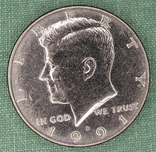 1991D Kennedy half