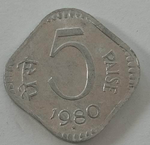 1980...India  Circulated  coin.. Hyderabad mint