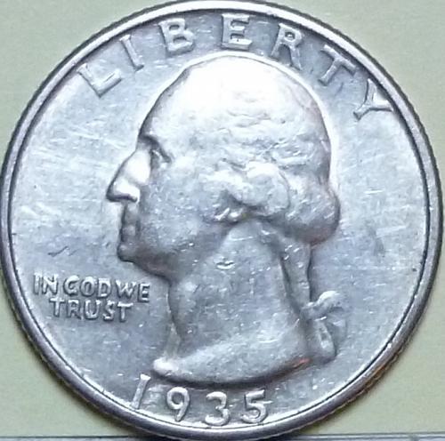 1935-P EXTRA FINE Washington Quarter XF (401)