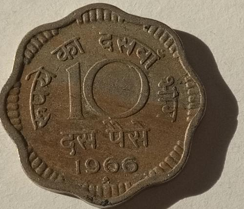 1966.......India  Circulated  coin..