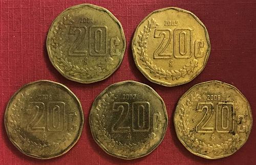 Mexico 2004 to 2008 = 20 Centavos [#3]