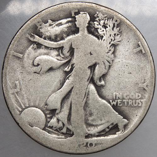 1920 D Walking Liberty Half Dollar#15
