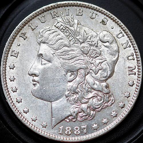 1887 O Morgan Silver Dollar - AU / Almost Uncirculated - Better Grade