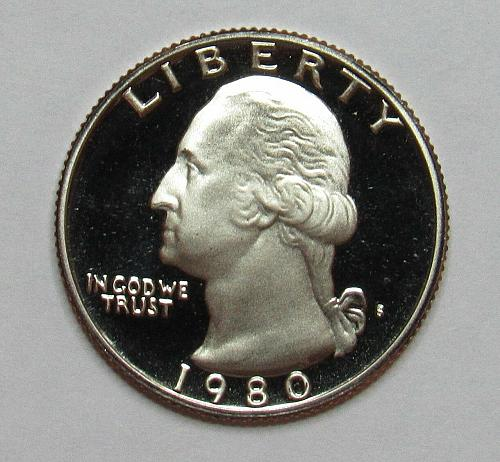 1980  S  PROOF  WASHINGTON QUARTER