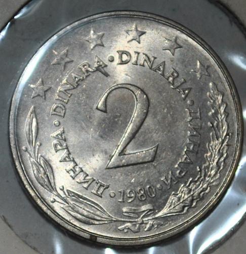 Yugoslavia 1980 2 Dinara