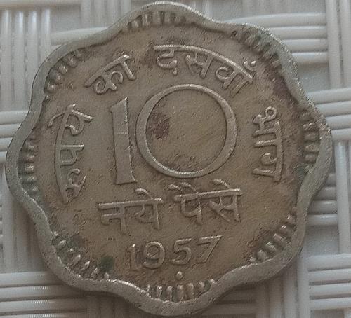 1957....India  Circulated  coin..
