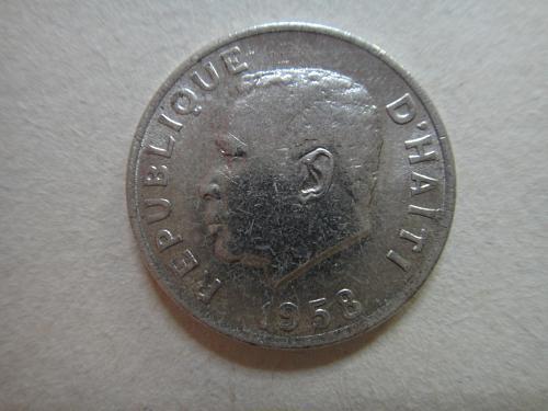 HAITI 5 Centimes 1958 MS-65 (GEM) K#62 Featuring President Papa Doc!