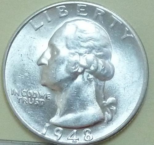 1948-S UNCIRCULATED Washington Quarter UNC ( 707)