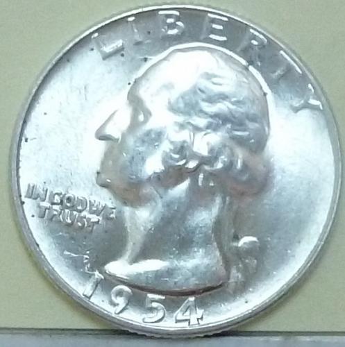 1954-P UNCIRCULATED Washington Quarter UNC ( 708)