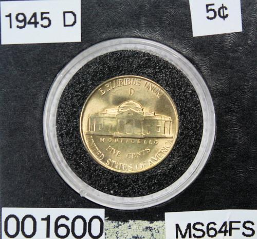 1945 D Jefferson Nickel