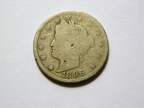 1896 Liberty V Nickel