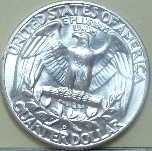 1958-D BRILLIANT UNCIRCULATED Washington Quarter BU ( 738)