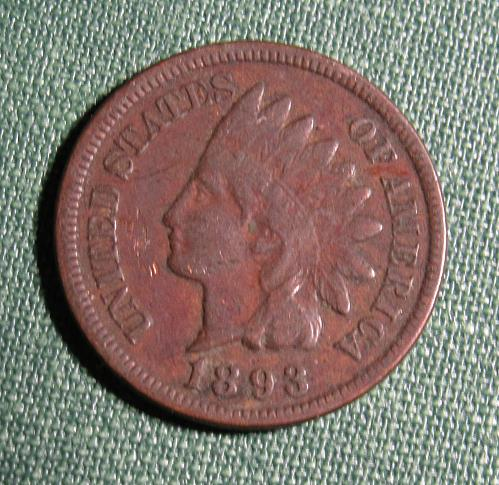 1893P Indian Head Cent