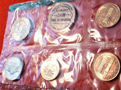 1968 P, D & S Uncirculated BU Mint Set in Mint Packaging.