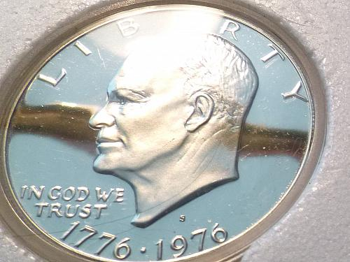 1976-S 40% Silver Proof Set ~ Three Fully Frosted Mirror Cameo Coins